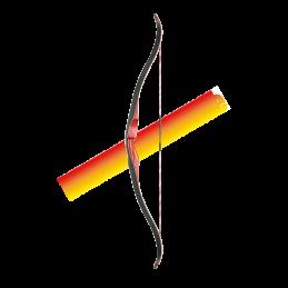 Ensemble Fl/èches et Jeu de Tir /à l/'Arc avec 1 Cible 1 Carquois et 3 Fl/èches Jeu de Tir Cadeau Id/éal pour Enfant Seciie Arc et de Fl/èches Tir /à larc Set
