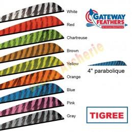 """Plume GATEWAY 4"""" parabolique tigrée"""