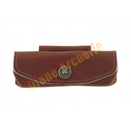 Etui prevençal en cuir horizontal 10/11 cm