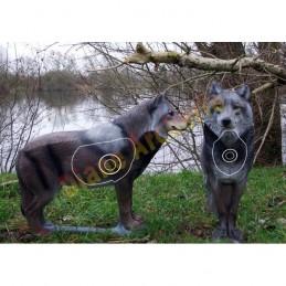 Cible 3D NATUR FOAM Loup debout - Groupe 1