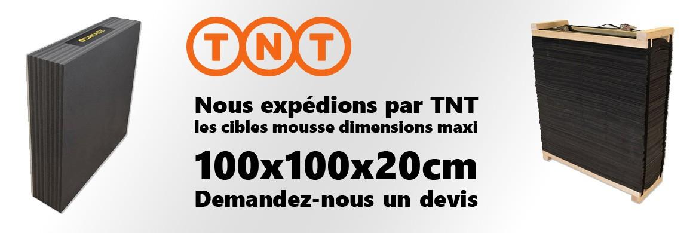 Envoi de cibles mousse par TNT